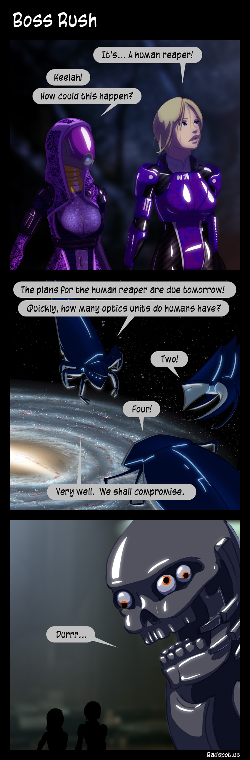 Mass Effect Comic Boss Rush