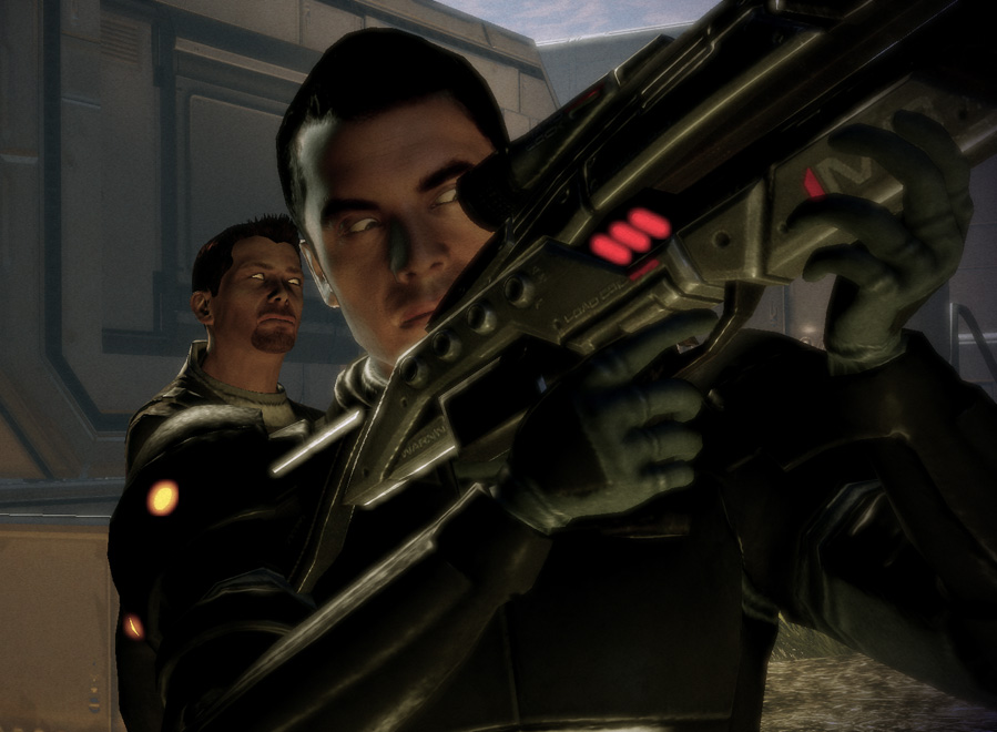 Mass Effect Kaiden Looks At Things