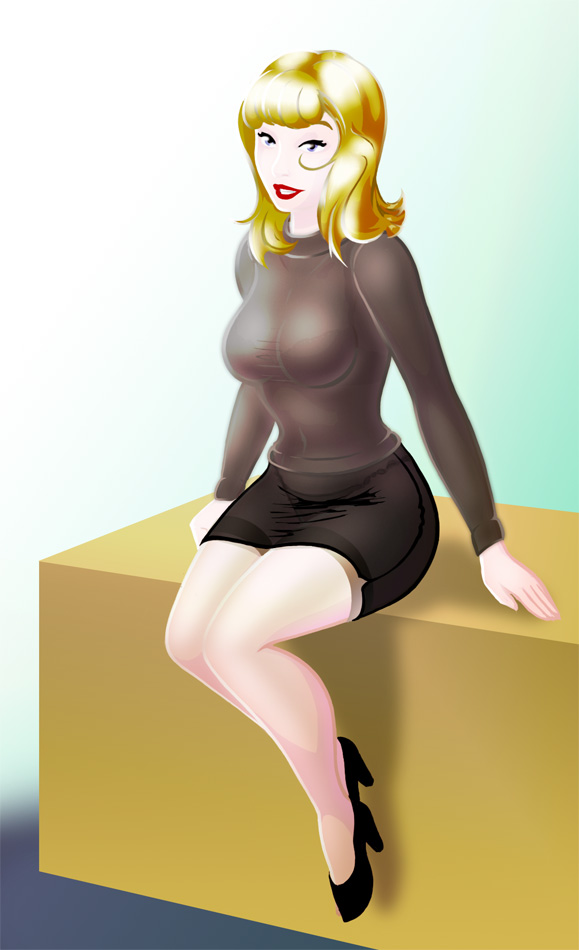 Office Lady Pinup