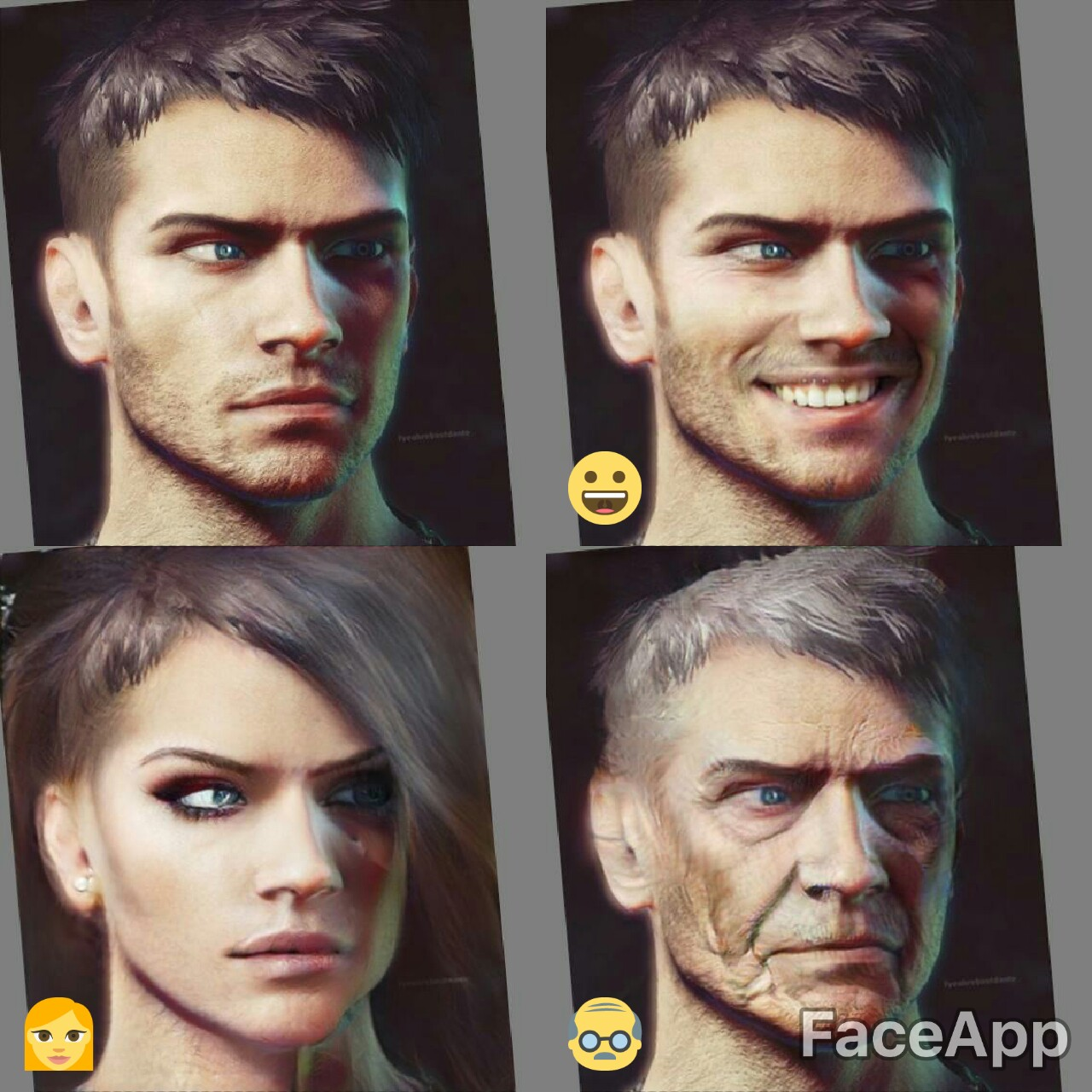 faceapp DMC New Dante
