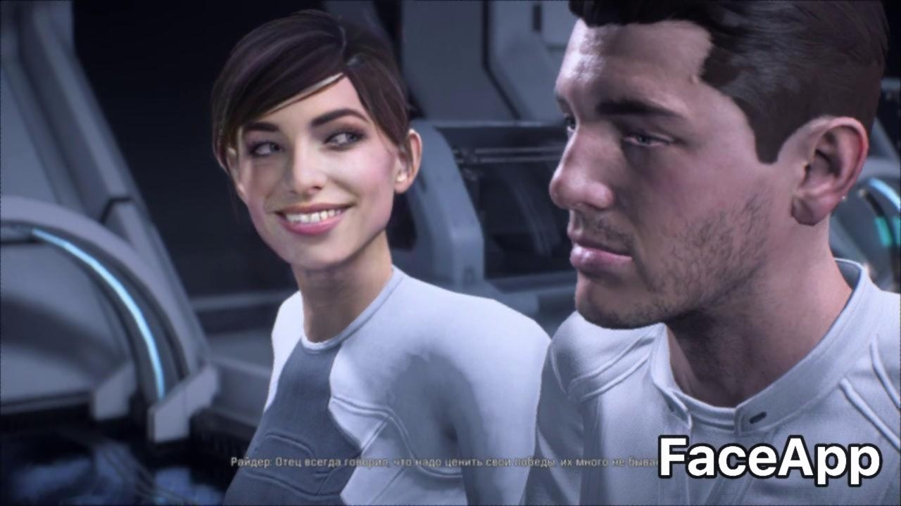 faceapp Mass Effect Andromeda Ryders