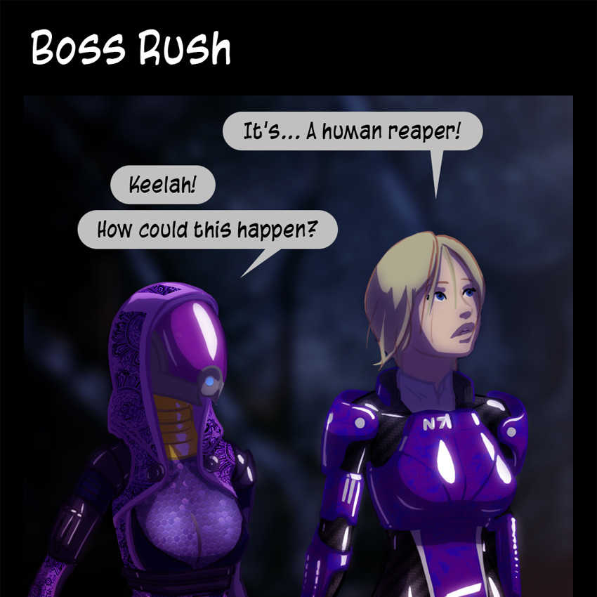 Mass Effect Funny Comics Mass Effect Comic Boss Rush